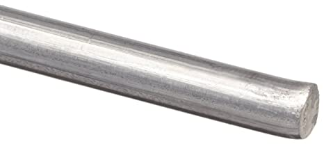 ASTM B211 Mill Unpolished Finish 1//4 Diameter 1100 Aluminum Wire 10 Length Soft Temper