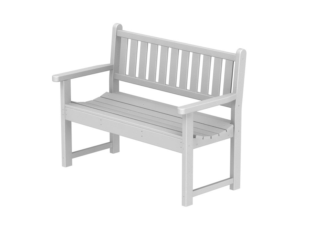 Recyled Plastic Traditional Garden 48 inches Outdoor Bench