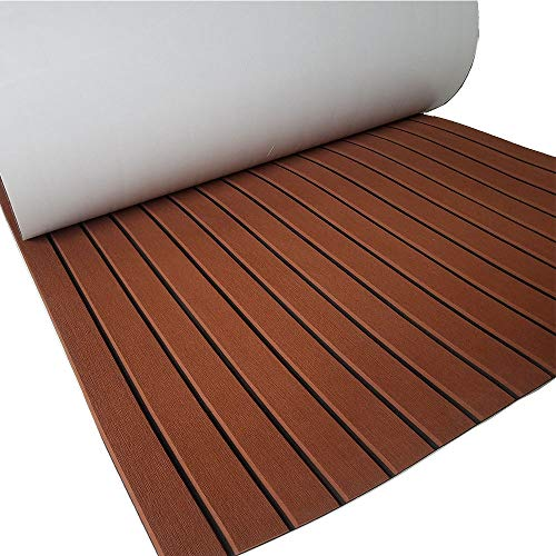 (yuanjiasheng New Design EVA Faux Teak Decking Sheet For Boat Yacht Non-Slip Marine Flooring Mat 94.5