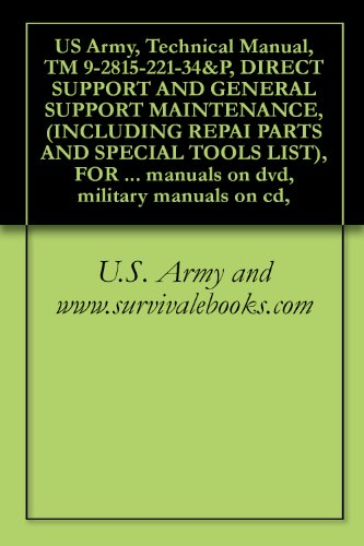 US Army, Technical Manual, TM 9-2815-221-34&P, DIRECT SUPPORT AND GENERAL SUPPORT MAINTENANCE, (INCLUDING REPAI PARTS AND SPECIAL TOOLS LIST), FOR ENGINE, ... manuals on dvd, military manuals on ()