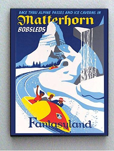 Framed Disneyland 1969 Matterhorn Vintage Restored 8.5X11 mini ()