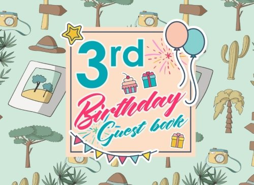 Download 3rd Birthday Guest Book: Birthday Girl Guest Book, Guest Book For Visitors, Blank Guest Book Lined, Guest Sign In For Birthday, Cute Safari Wild Animals Cover (Volume 46) PDF