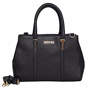 Kenneth Cole REACTION KN1860 Triple Entry Harriet Satchel, Black, Size One Size