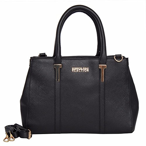 Kenneth Cole Reaction KN1860 Triple Entry Harriet Satchel Handbag (BLACK)