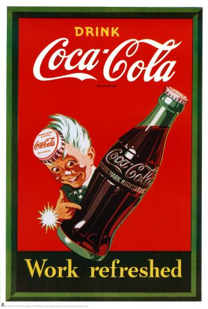 Cartel-Coca Cola, tamaño: 61 x 91 cm: Amazon.es: Hogar