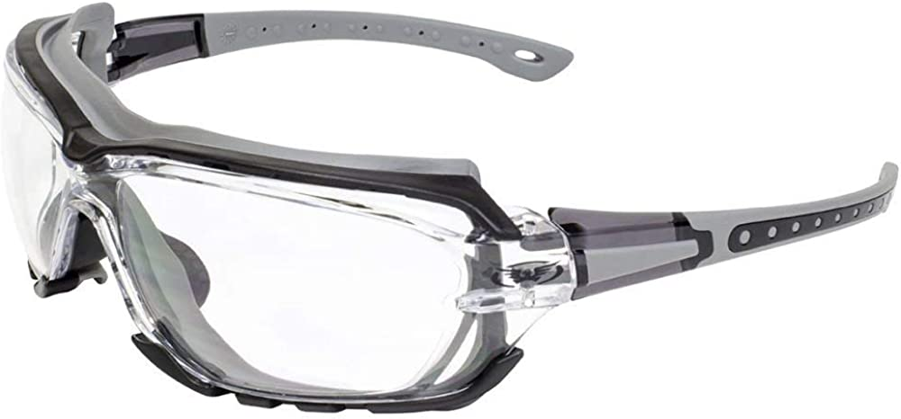 Global Vision imbottito moto sport occhiali da sole octane grey lenti trasparenti