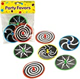 Laser Disc Spinner Tops - Party Favor 6 count Case Pack 48