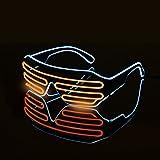 Standard EL Flash Glasses DJ Bright Eyeglasses Wire Fashion Neon LED Light Rave Costume Blinds Fluorescent Dance Performances Bar Christmas Party Gifts