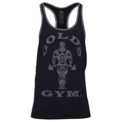 2016 Gold's Gym Muscle Joe Contrast Stringer Fitness Sports Vest Mens Training Tank Top
