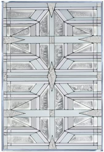 Prairie 1 White Art Glass Panel V-430