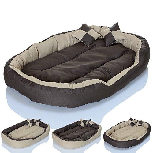 4in1 Hundebett XXL - kuscheliges, waschbares Hundekissen Sofa - Hundekorb Farbe: Creme Gr. L