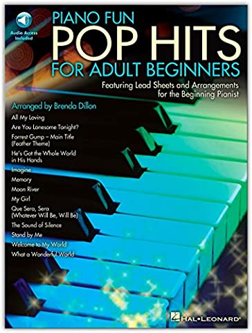 Hal Leonard Piano Fun - Pop Hits For Adult Beginners (Book/Online Audio) (Piano Sheet Music Easy Adult)