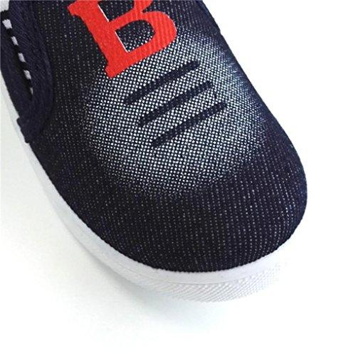 Igemy 1 Paar Kinder Jungen Mädchen Segeltuch Lässige Schuhe Sneakers Fashion Kid Flat Kinder Schuhe Dunkelblau
