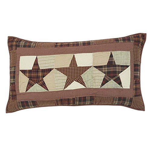 VHC Brands Abilene Star King Quilted Cotton Sham in Red and Tan