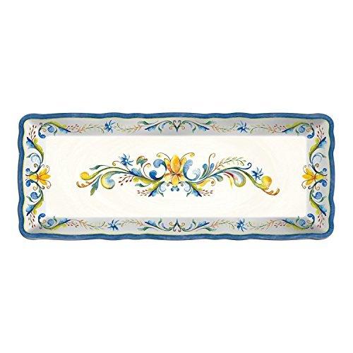 (Le Cadeaux Melamine Floral Harvest - Baguette Tray, 15 by 6 inches)