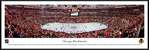Chicago Blackhawks at United Center - Standard Framed NHL Print by Blakeway (Nhl Chicago Blackhawks Framed)
