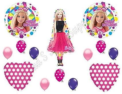 Amazon.com: Barbie Sparkle Cumpleaños Globos Decoración ...