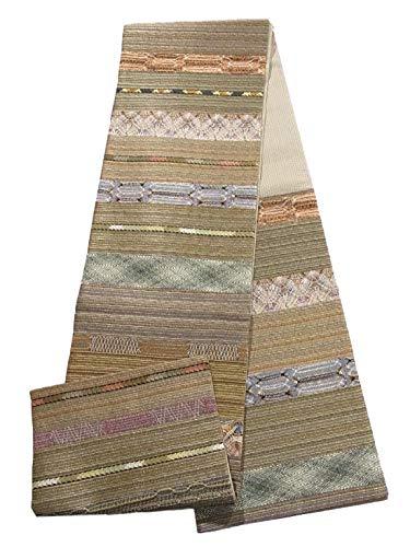 ホイッスル拮抗する架空のリサイクル 袋帯  装飾文様 変わり織り 正絹