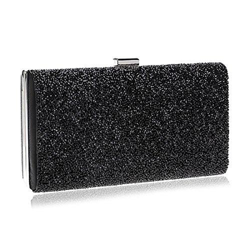 Women's Evening Bag Rhinestone Clutch Handbag Black Hot Clutch Rhinestone Evening Envelope FrZFf