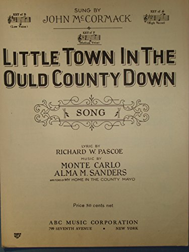 County Down Sheet Music (Little Town in the Ould County Down)