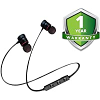 Zaptin Magnetic Bluetooth Waterproof Headphone with Built-in Microphone for Sports,Running & Outdoor Compatible with Xiaomi Mi 5s (Black)