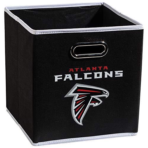 Franklin Sports NFL Atlanta Falcons Fabric Storage Cubes - Made To Fit Storage Bin Organizers (11x10.5x10.5