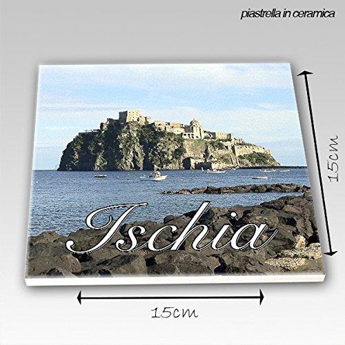 Mattonella 15x15 cm Ischia Il castello Aragonese