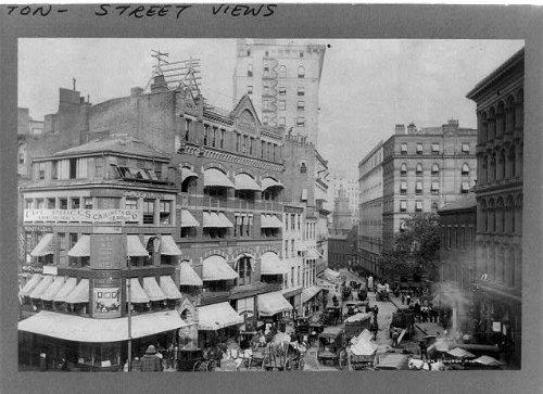 Photo: Market Street,Court Street,crowds,Boston,Massachusetts,MA,Clinton - Market Street Ma Boston