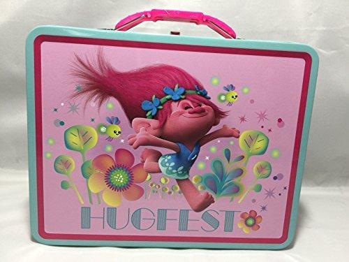 Friends Tin Box - Dreamworks Trolls Princess Poppy and Friends Storage Tin Lunch Bag Box (Princess Poppy)