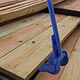 """Yaheetech Pallet Buster Tool with Iron 44"""" Bar Handle, Deck Wrecker in Blue for Pallet Furniture and Reclaiming Boards"""