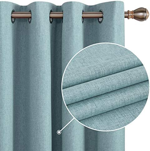 Deconovo Total Blackout Curtains Pair Thermal Insulated Grommet Sun Blocking Curtain