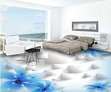 Fußboden 3d Gratis ~ Malilove d bodenbeläge blue lily schöne transparente blumen d