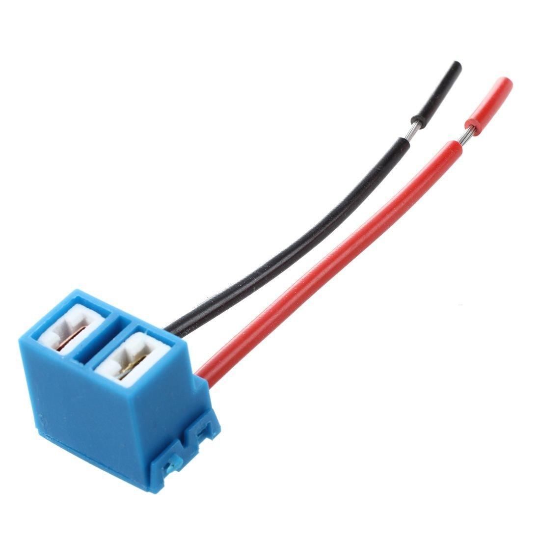 JVSISM 2 x H7 Enchufe de conector de Bombilla de Lampara de ceramica para el coche