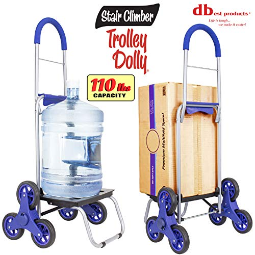 """dbest products Stair Climber Trolley Dolly storage carts, 17.25"""" x 15.25"""" x 39.5"""", Blue"""