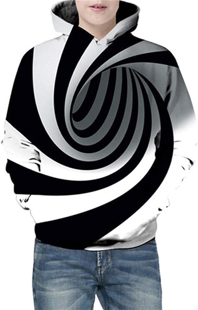 KIDVOVOU Boys Girls Teens 3D Unicorn Print Hoodies Pullover Kids Sweatshirts