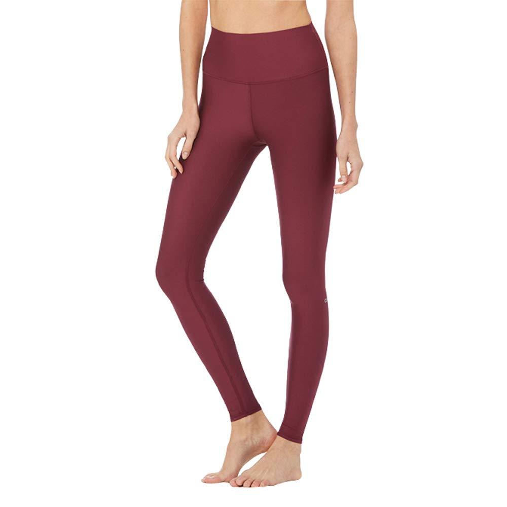 Alo Yoga High-Waist Airlift Legging - Women's Black Cherry, L