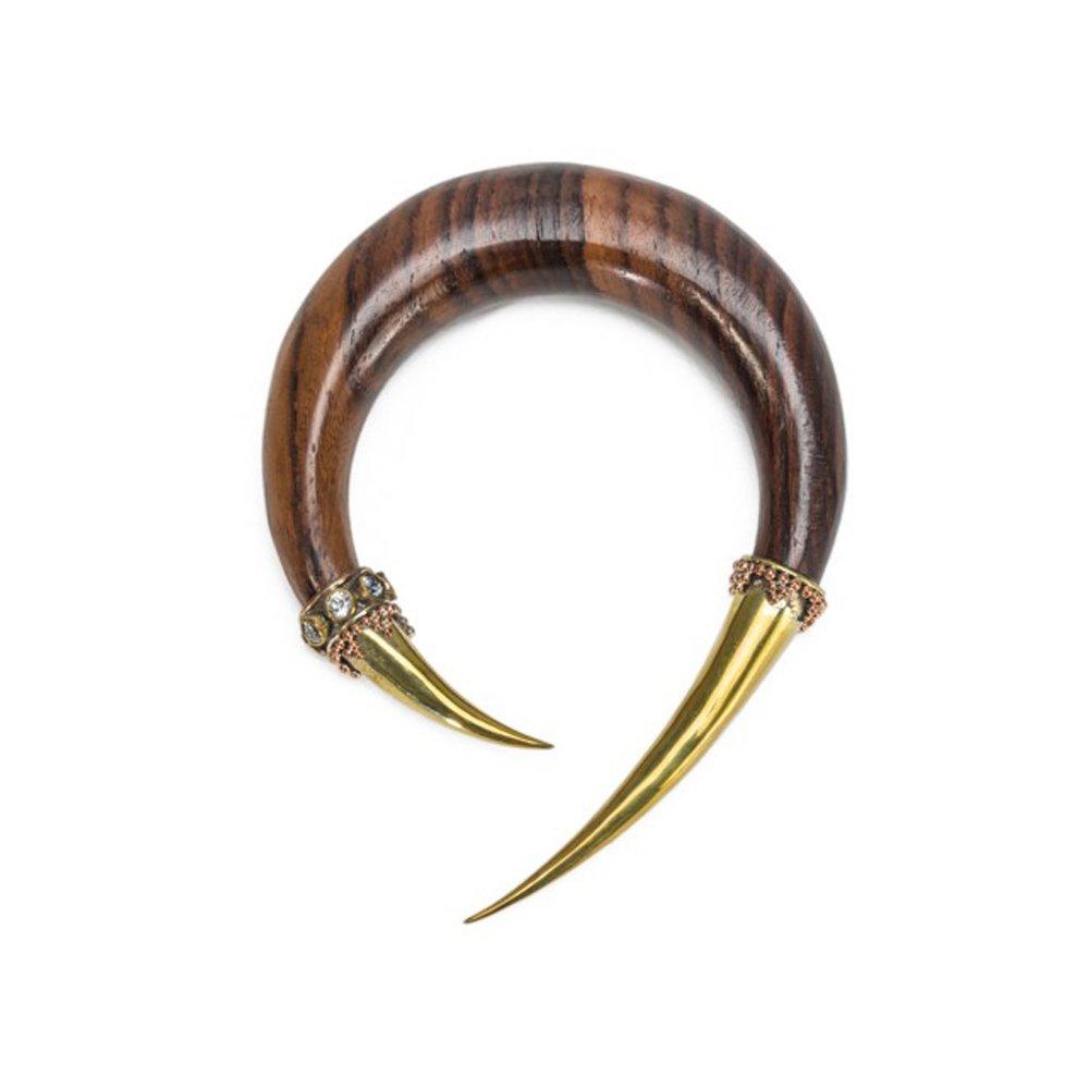 Elementals Organics Kitty Claw Sono Wood Hanger - Price Per 1-11mm ~ 7/16''