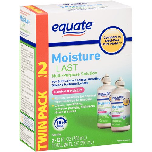 Equate - Moisture Last, Soft Contact Lens Multi-Purpose Solution, 24 FL OZ (Compare to Opti-Free)