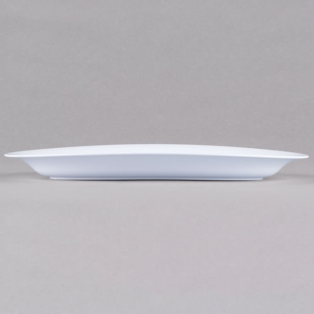 - White 8 x 13 Pack of 3 Heavy Duty Plastic Small Oval Serving Trays//Serving Platters 20cm x 33cm