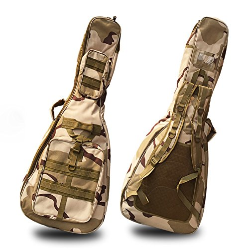 41 Inch Waterproof Guitar Gig Bag, 600D and 10mm Padding Oxford Cloth/Dual Adjustable Shoulder Strap Acoustic Electric Guitar Case-Camouflage(GJB15)
