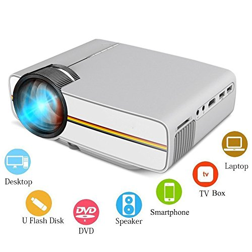 COOQI Projector, Mini LED Portable Pocket Projector Support
