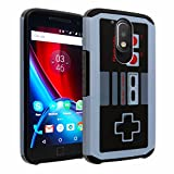 Moto G4 Play Case, G Play 4th Gen Case, DURARMOR [Drop Protection] Dual Layer Hybrid ShockProof Slim Fit Armor Defender Protector Phone Case Cover for Moto G Play, Nintendo NES Game Controller