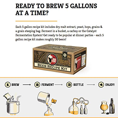 Home Brew Kit – Craft a Brew 5 Gallon Beer Recipe Chocolate Milk Stout Beer Kit – Make Your Own Beer with Home Brewing 5 Gallon Kits – Home Brewing Ingredient Kit by Craft A Brew (Image #1)