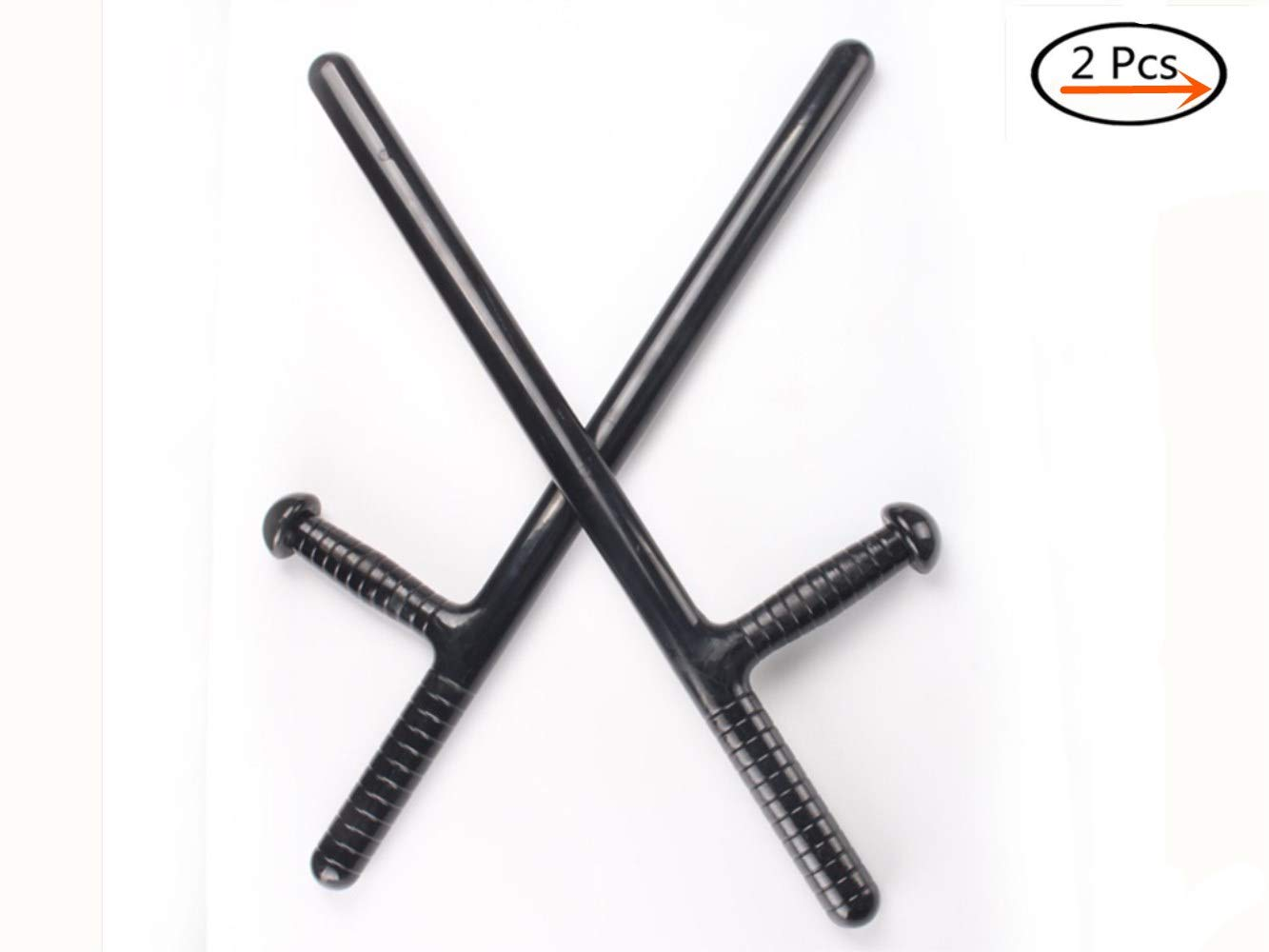 Humourous 1 Pair Riot Stick T-Type TshapedT-Stick Turn Martial Arts Security Equipment Security Supplies Self-Defense Weapons