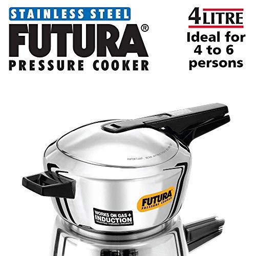 Amazon.com: Futura acero inoxidable olla de presión, 4.0 ...