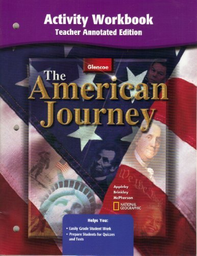 American Journey Activity Workbook Teacher Annotated Edition