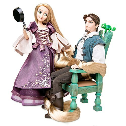 Rapunzel and Flynn Doll Set Deluxe - Fairytale Collection - Limited Edition (Plate Accent Lace 9')