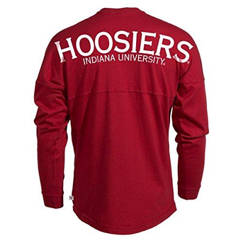 University Ncaa Indiana - Official NCAA University of Indiana Hoosiers IU Women's Long Sleeve Spirit Wear Jersey T-Shirt