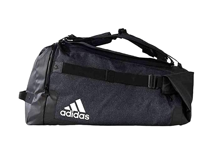 c496f96c1b Amazon.com  adidas Team Travel Transformer Bag (Black White)  Sports    Outdoors