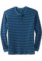 Kingsize Men's Big & Tall Waffle Knit Thermal Henley Shirt